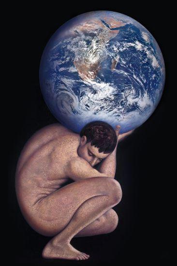 Atlas sosteniendo al mundo