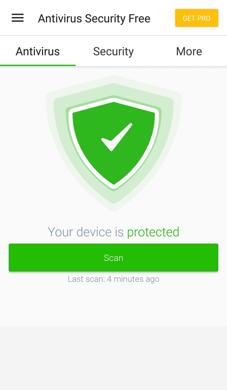 Screenshot of the Android antivirus app from Avira called Antivirus Security Free