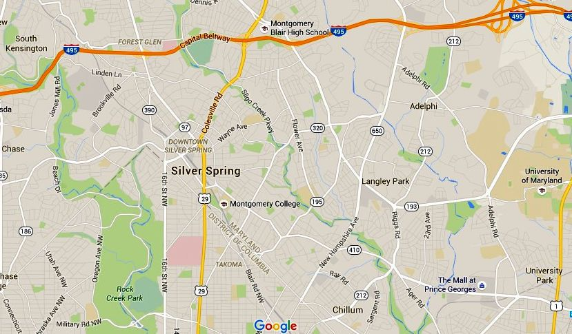 Silver Spring Maryland Map Directions and Parking
