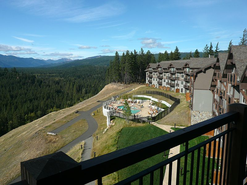 View of The Lodge at Suncadia from Guest Room Balcony