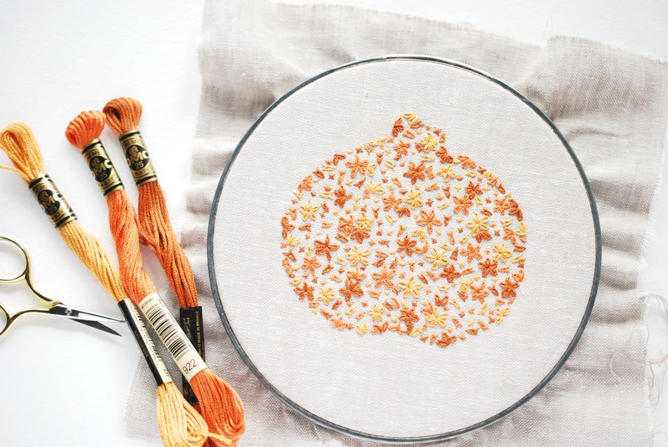 Filled Silhouette Embroidery