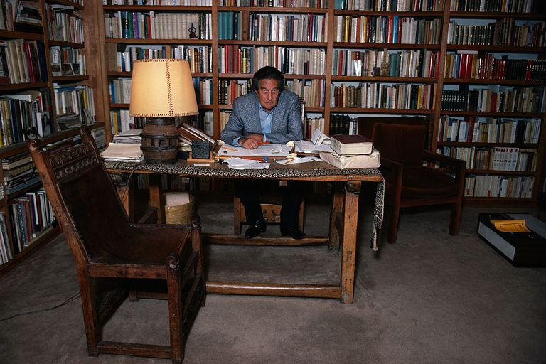 Writer Octavio Paz at Home