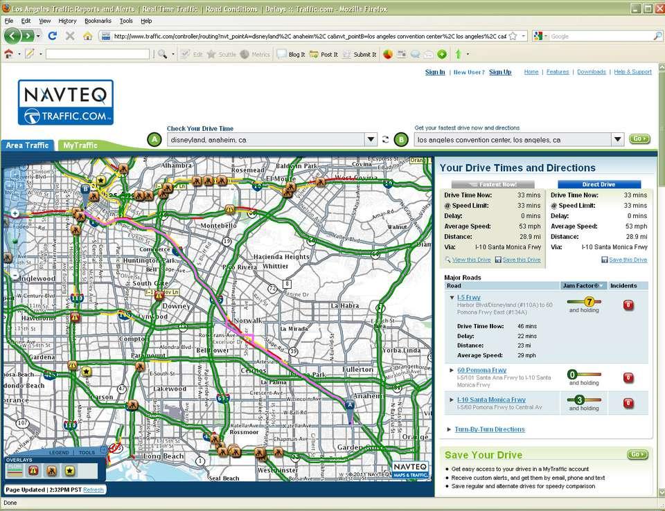 Los Angeles Sigalert Traffic Map - Free Usa Maps