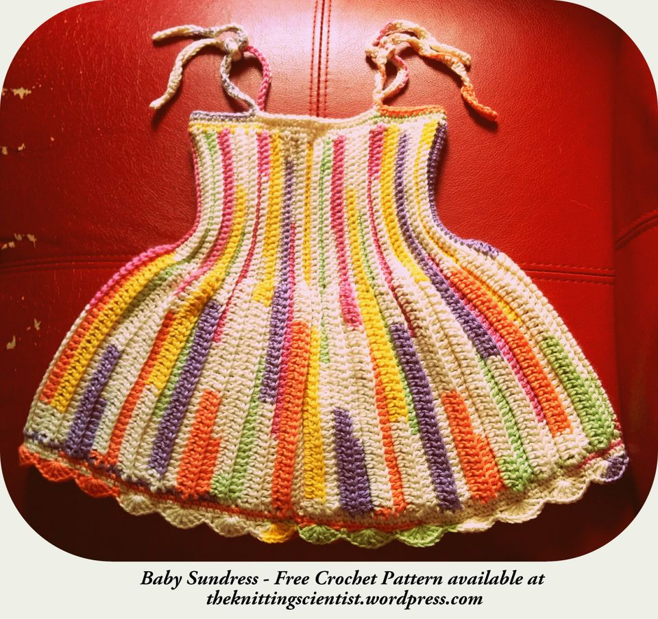 Free crochet baby clothes patterns baby sundress free crochet pattern bankloansurffo Choice Image