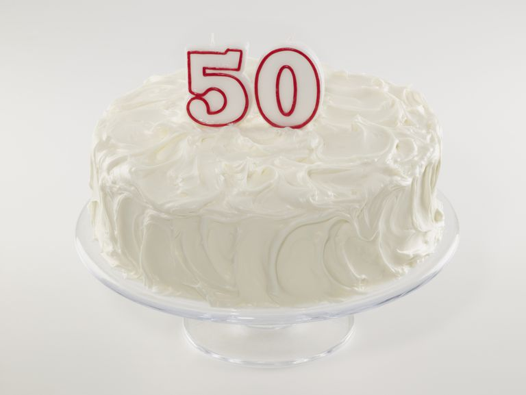 birthday cake for age 50