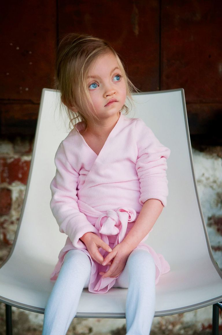 Young girl with characteristic features of Wolf-Hirschhorn syndrome