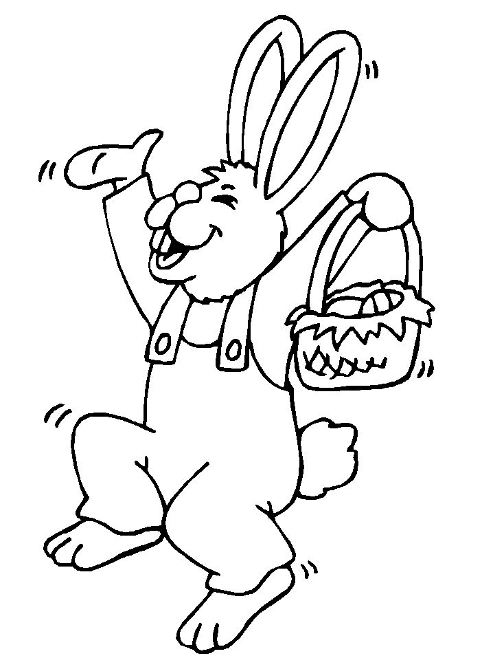 An Easter Bunny Hopping Coloringws