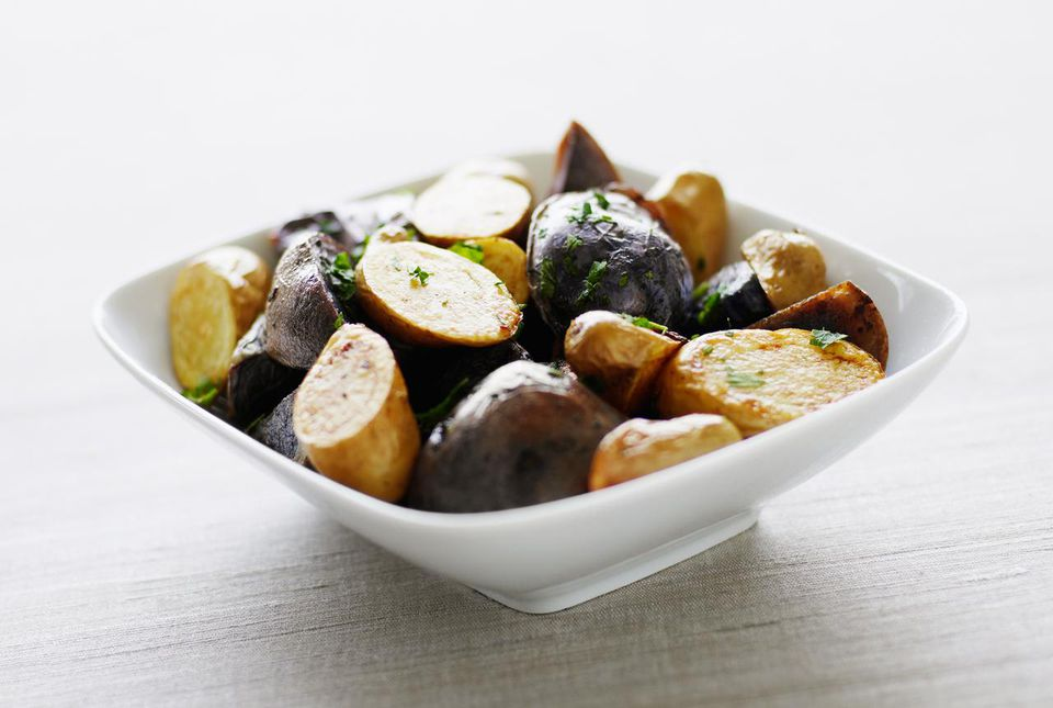 Roasted Yukon Gold potatoes