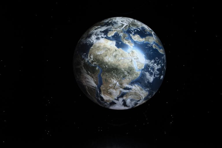 Earth as seen from space on display at the Cradle of Humankind, Moropeng, South Africa.