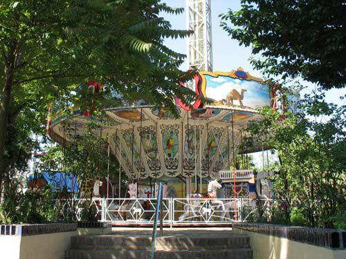 Amusement rides at Tivoli Gardens