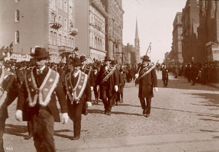 St. Patrick's Day parade in New York City in the 1890s