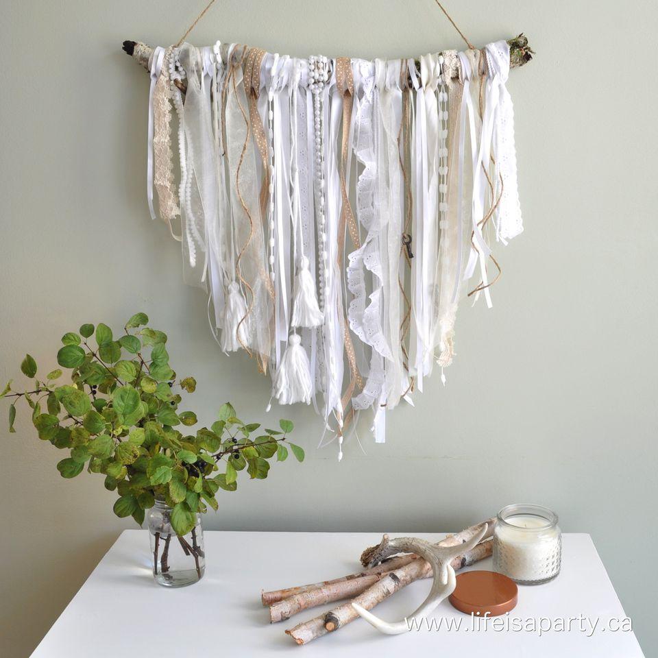 ribbon wall hanging