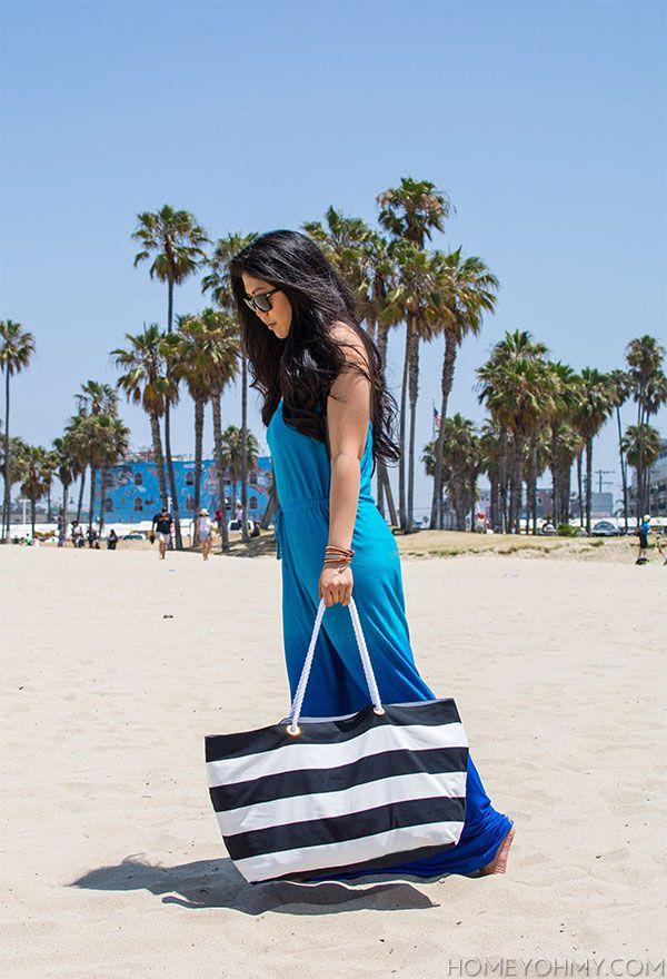 DIY No-Sew Beach Tote Bag