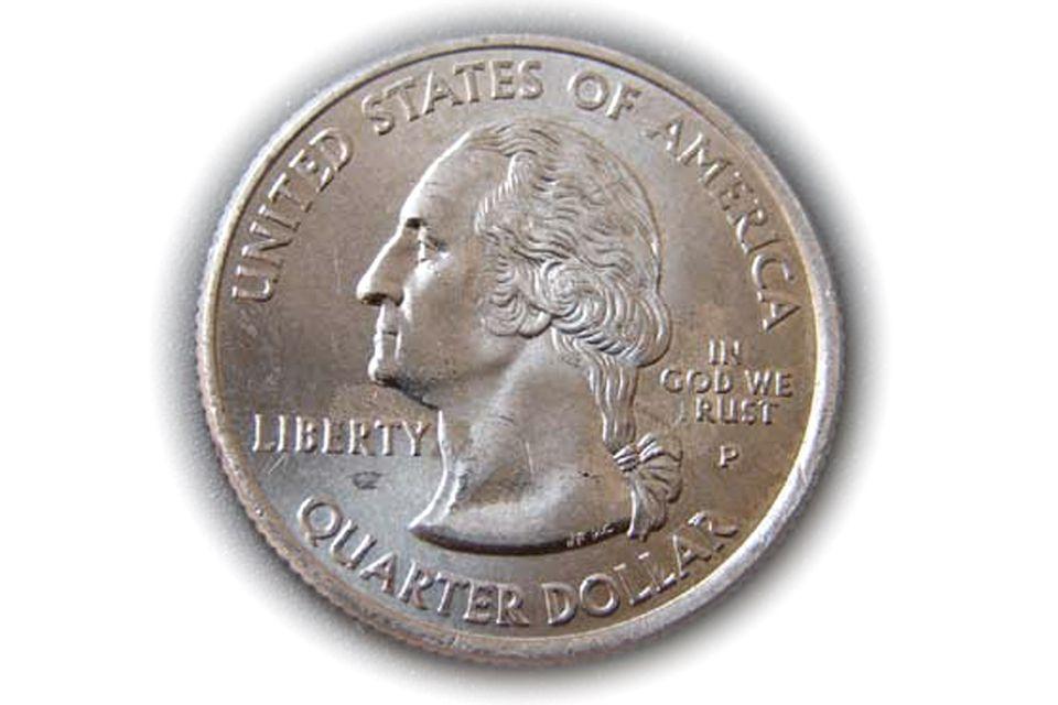 2005-P Kansas State Quarter Struck through Error with IN GOD WE RUST