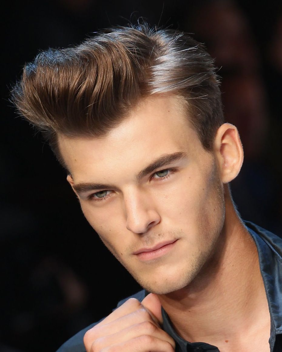 Mens Brushed Back Hairstyles Picture Gallery