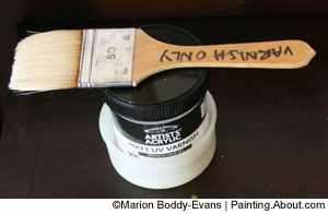 Photo of Varnish Brush and Painting Varnish