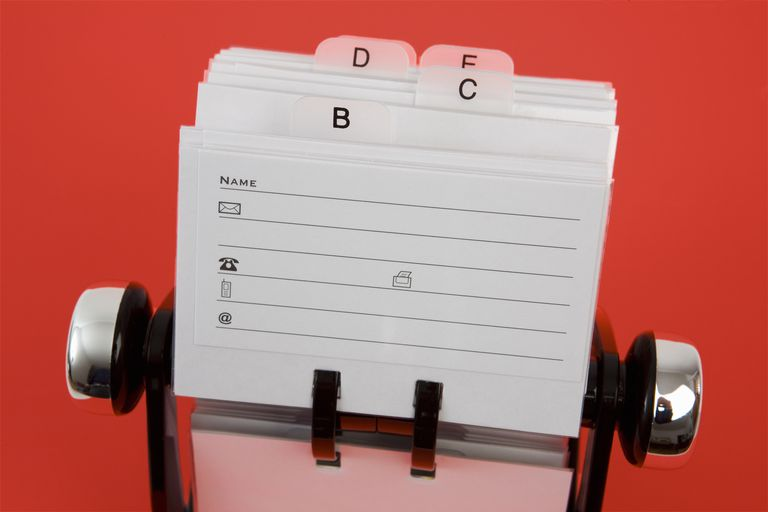 Address Book/Rolodex in red