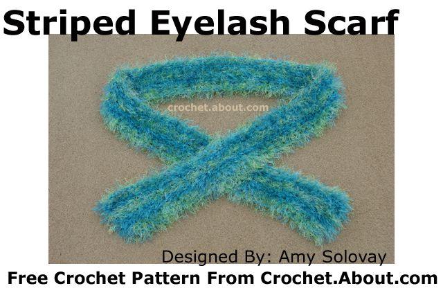 Eyelash Yarn Scarf -- Crocheted Using Lion Brand Fun Fur and Caron Simply Soft Yarns