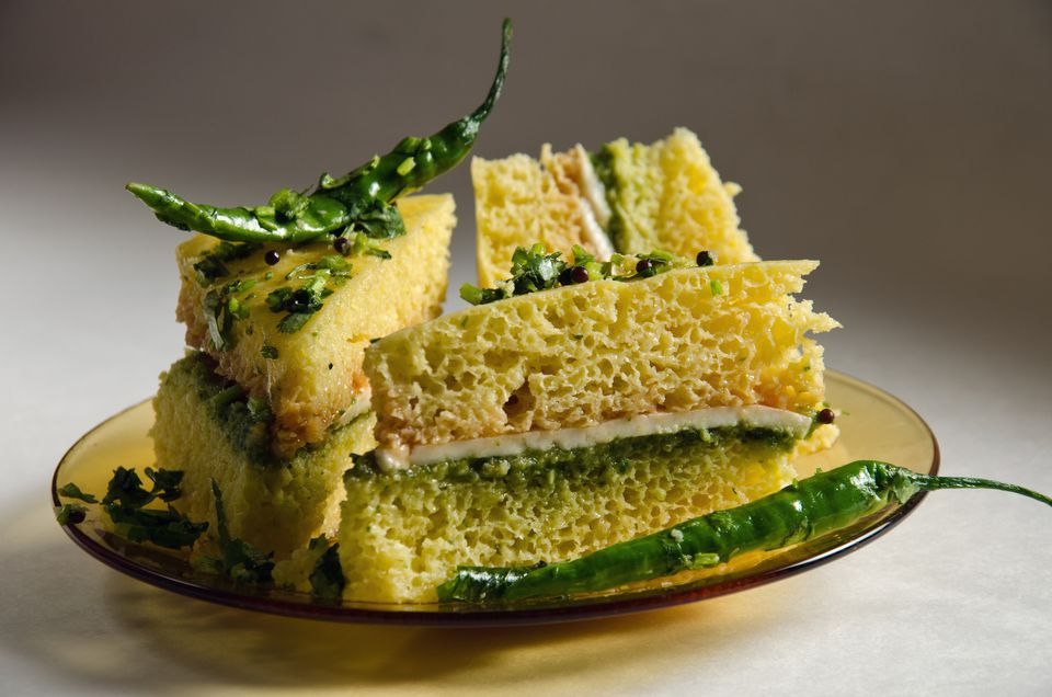 Kid friendly indian recipes collection paneer dhokla sandwich with green chillies forumfinder Choice Image