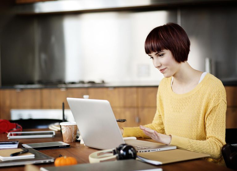 Young Woman in Class Online