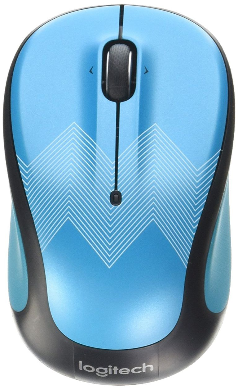 Logitech - M325c Wireless Optical Mouse - Teal Zigzag