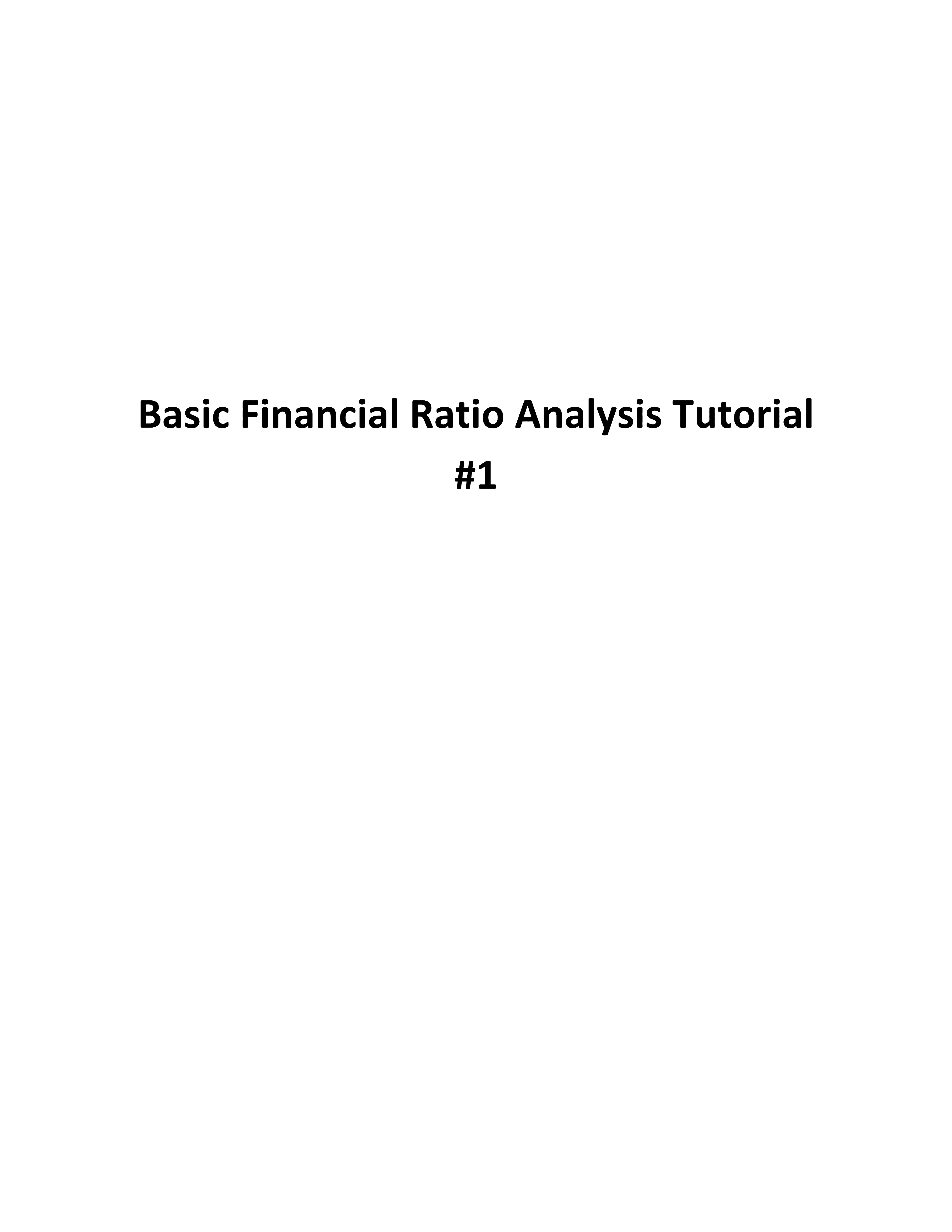 ufone financial ratio analysis Analyzing your financial ratios  when performing a ratio analysis of financial statements, it is often helpful to adjust the figures to common-size numbers to do.