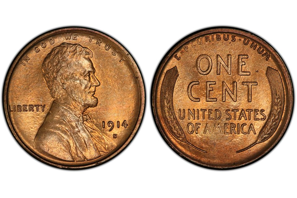 1914-S Lincoln Wheat Penny in Uncirculated Condition