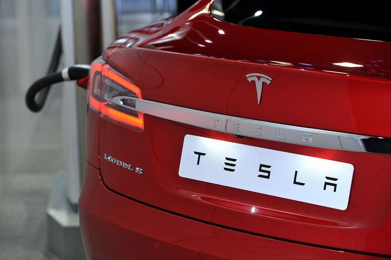 Tesla brand car