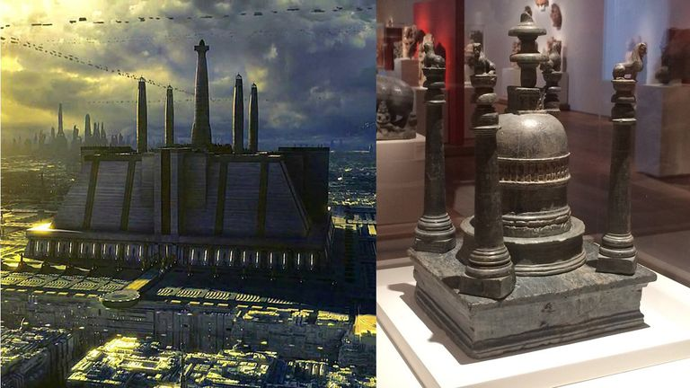 Jedi Temple and Gandharan Stupa Reliquary
