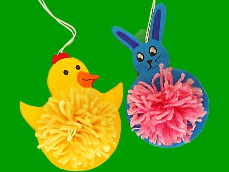 Conejo y pollo de Pascua