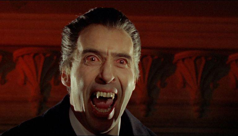 Christopher Lee in British Horror Movie 'Horror of Dracula'.