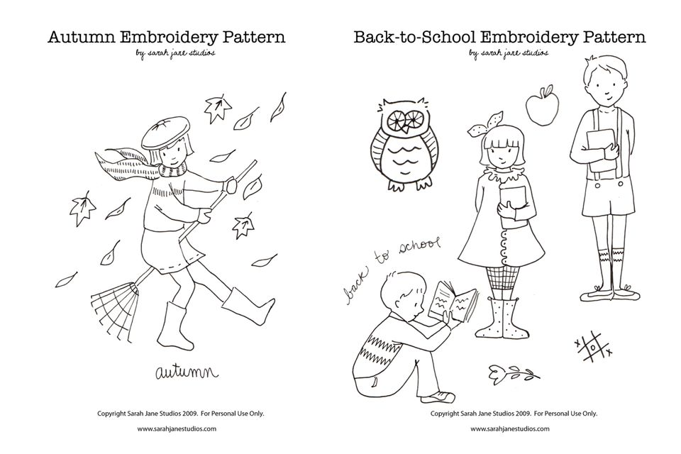 Autumn and Back to School Patterns