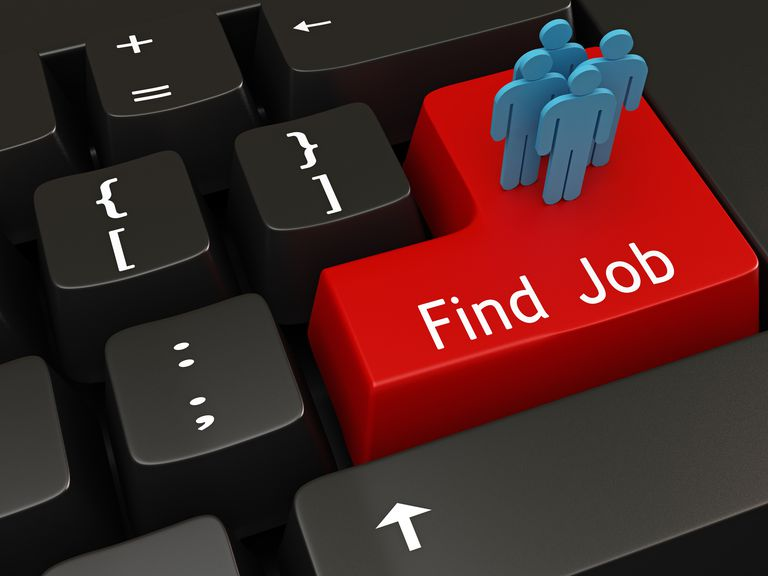 Find job button on computer