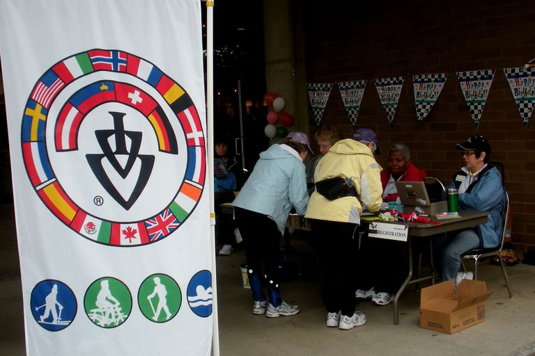Volksmarch Registration and Starting Table