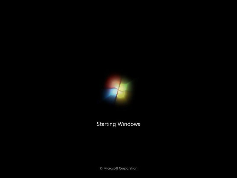 Screenshot of the Windows 7 Splash Screen