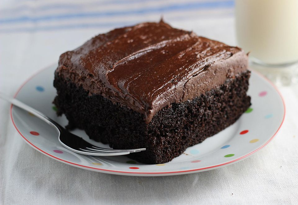Easy Plain Chocolate Sponge Cake Recipe