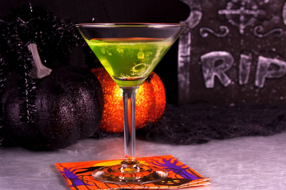 40 haunting halloween cocktails and party shots for Names of mix drinks