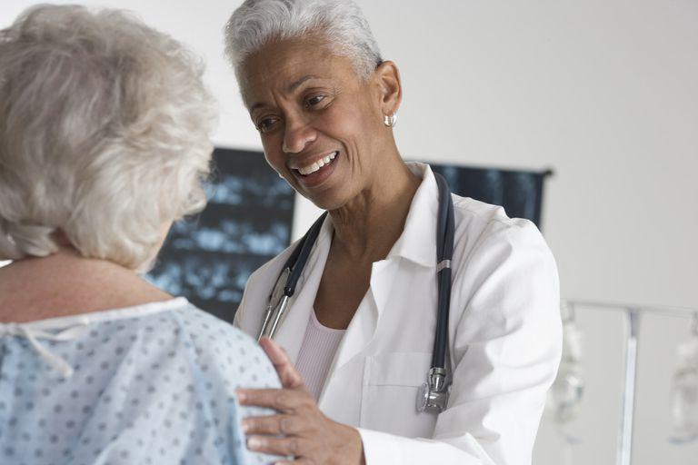 doctor reassures patient