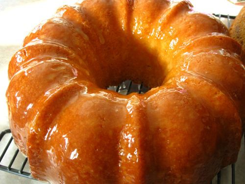 Lemon Rum Pound Cake Recipe