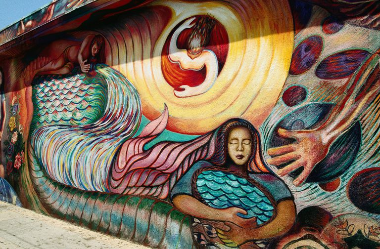 The murals of East Los Angeles are often included in ethnic studies courses in the city, which are proven to raise academic performance and engagement among students of color.