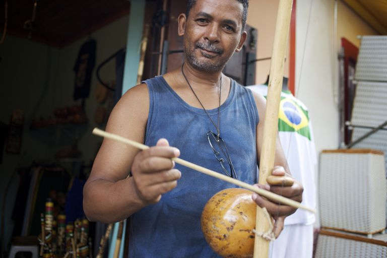 Man with traditional instrument