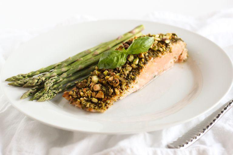 crusted pesto salmon