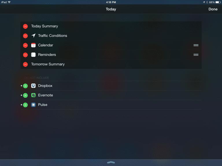 ipad widgets screenshot
