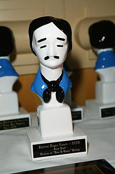 The Edgar Award statue, coveted by mystery writers