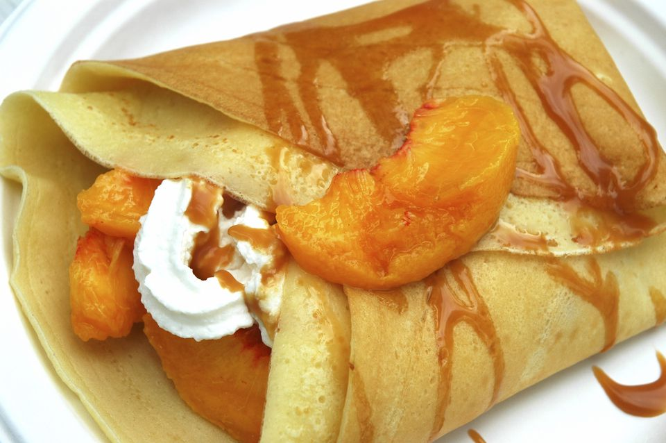 Peach crepes recipe fruit crepes