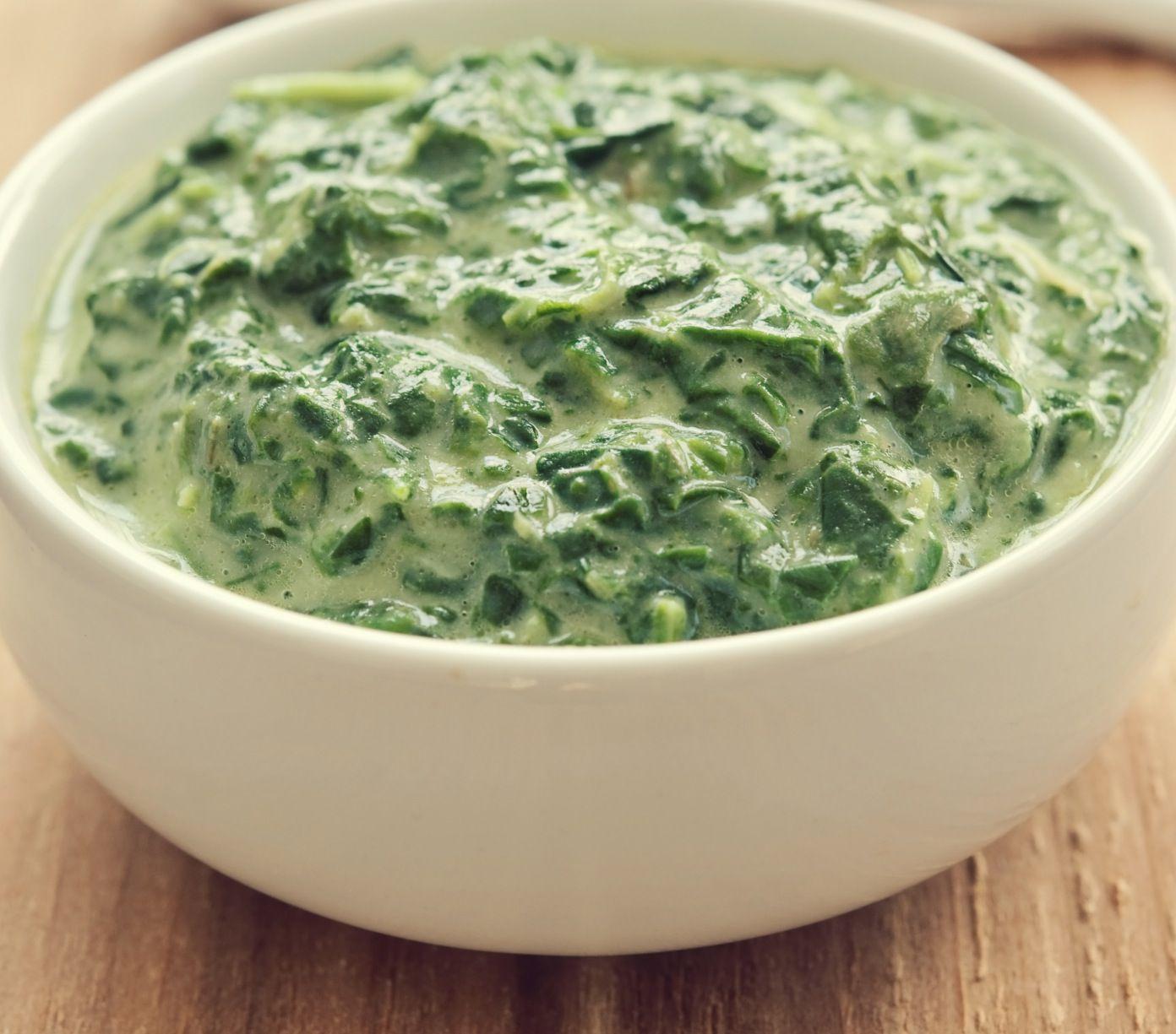 Five Minute Vegan Creamed Spinach Recipe