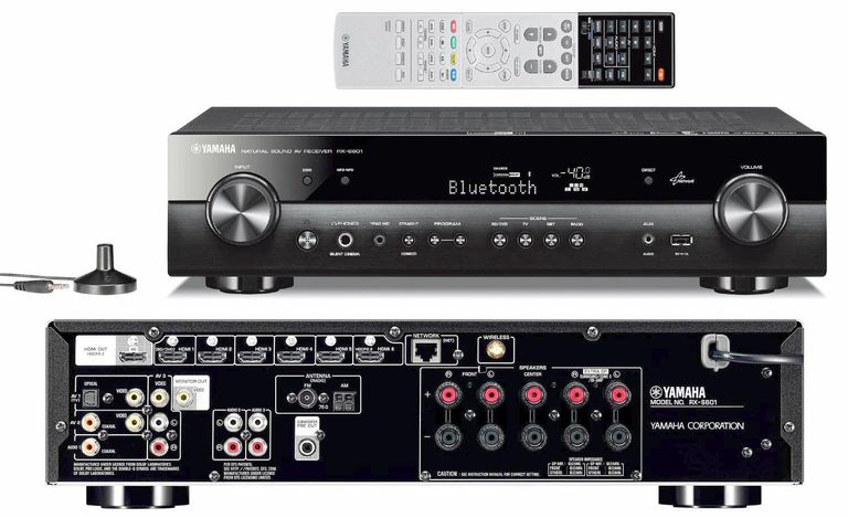 Yamaha unveils rx s601 slim profile av receiver for Yamaha home theater amplifier