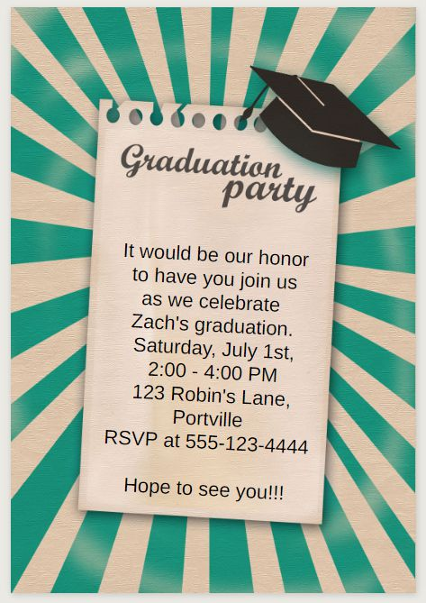 33 Free Printable Graduation Invitations Templates – Grad Party Invites