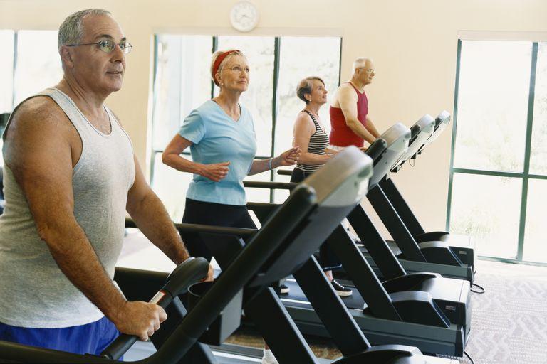 Seniors Workout on the Treadmill