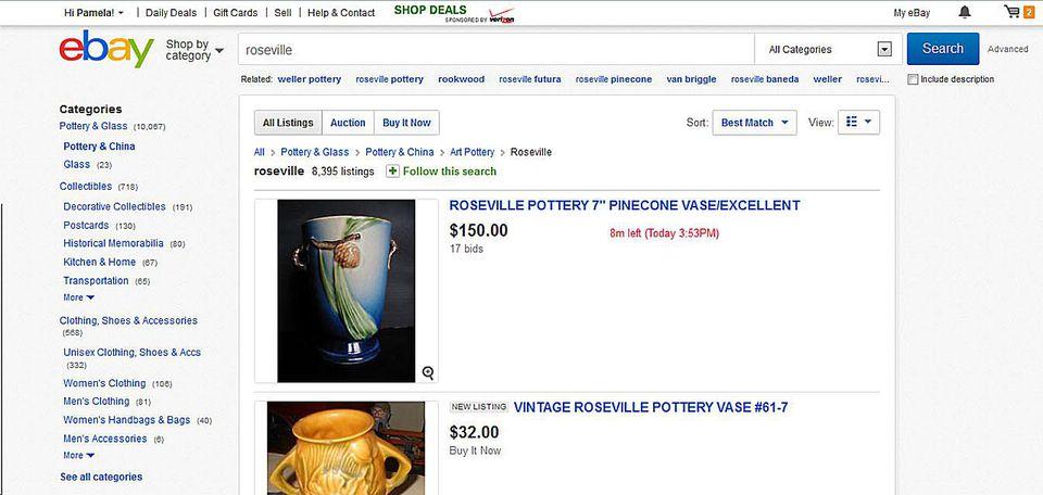 ebay antique page